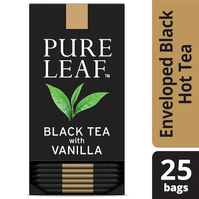 Pure Leafᵀᴹ Hot Tea Bags Black Tea with Vanilla 6/25 ct  - Pure Leafᵀᴹ Hot Teas match the careful craftsmanship of your menu.