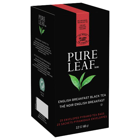 Pure Leafᵀᴹ Hot Tea Bags English Breakfast 25 count, Pack of 6