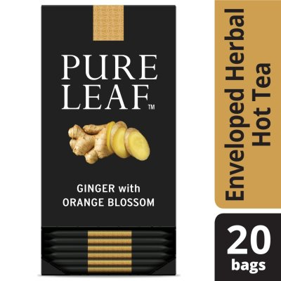 Pure Leafᵀᴹ Hot Tea Bags Ginger with Orange Blossom 20 ct, Pack of 6