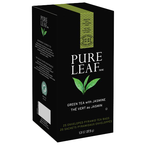 Pure Leafᵀᴹ Hot Tea Bags Green Tea with Jasmine 25 count, Pack of 6
