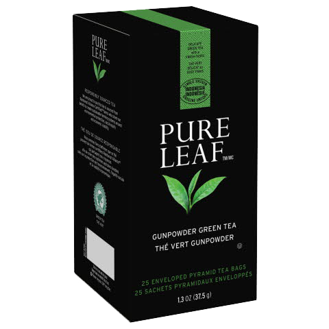 Pure Leafᵀᴹ Hot Tea Bags Gunpowder Green Tea 25 count, Pack of 6