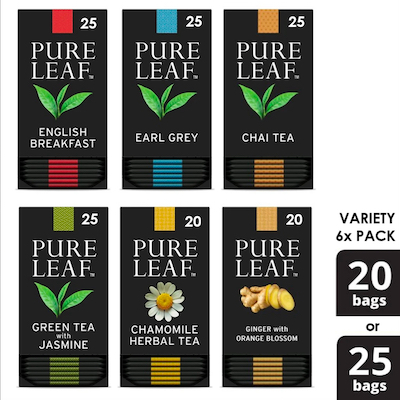 Pure Leafᵀᴹ Hot Tea Bags Variety Pack Various, Pack of 6