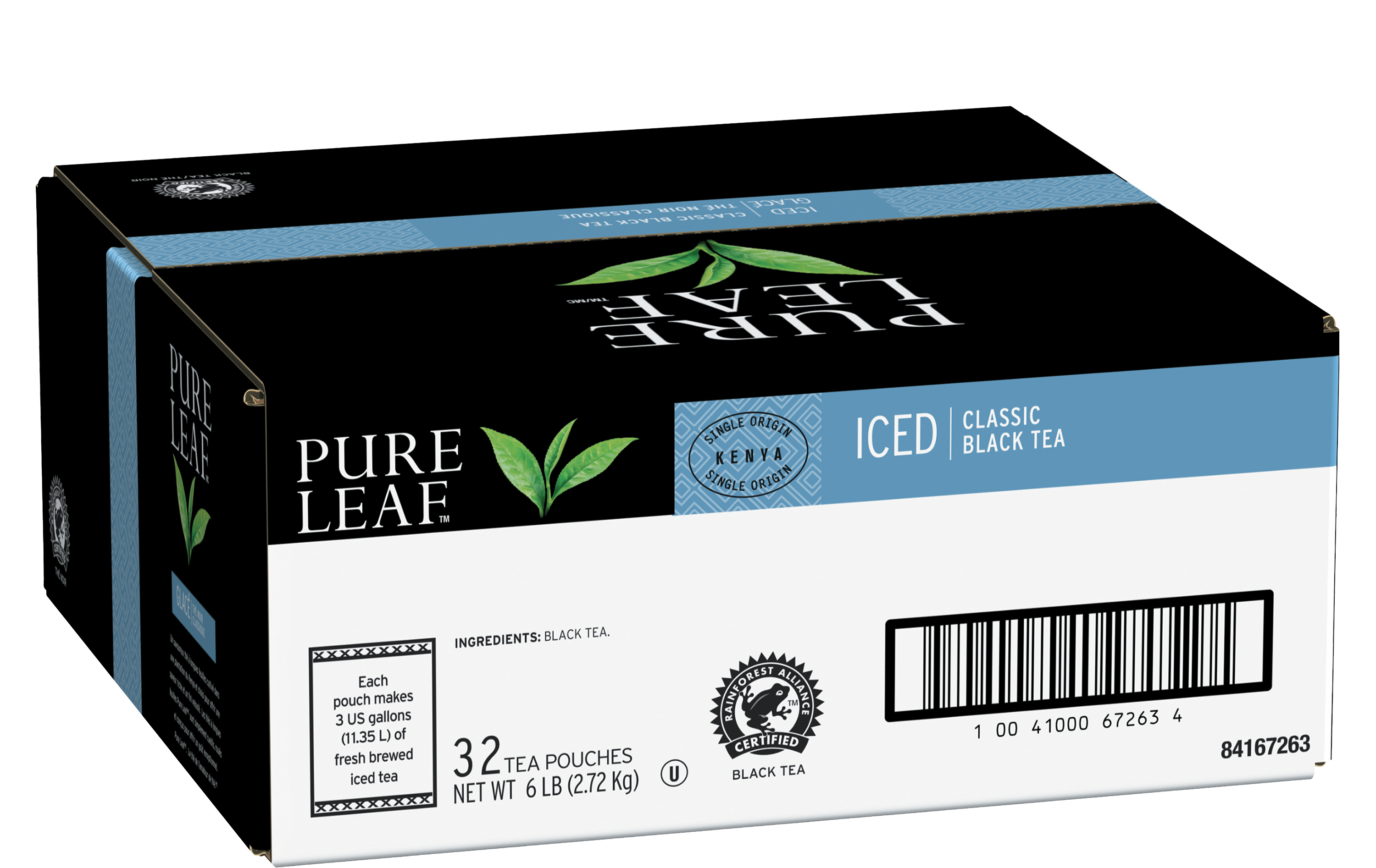 Pure Leafᵀᴹ/ᴹᶜ Iced Loose Tea Pouch Black 3 gallon 24 count