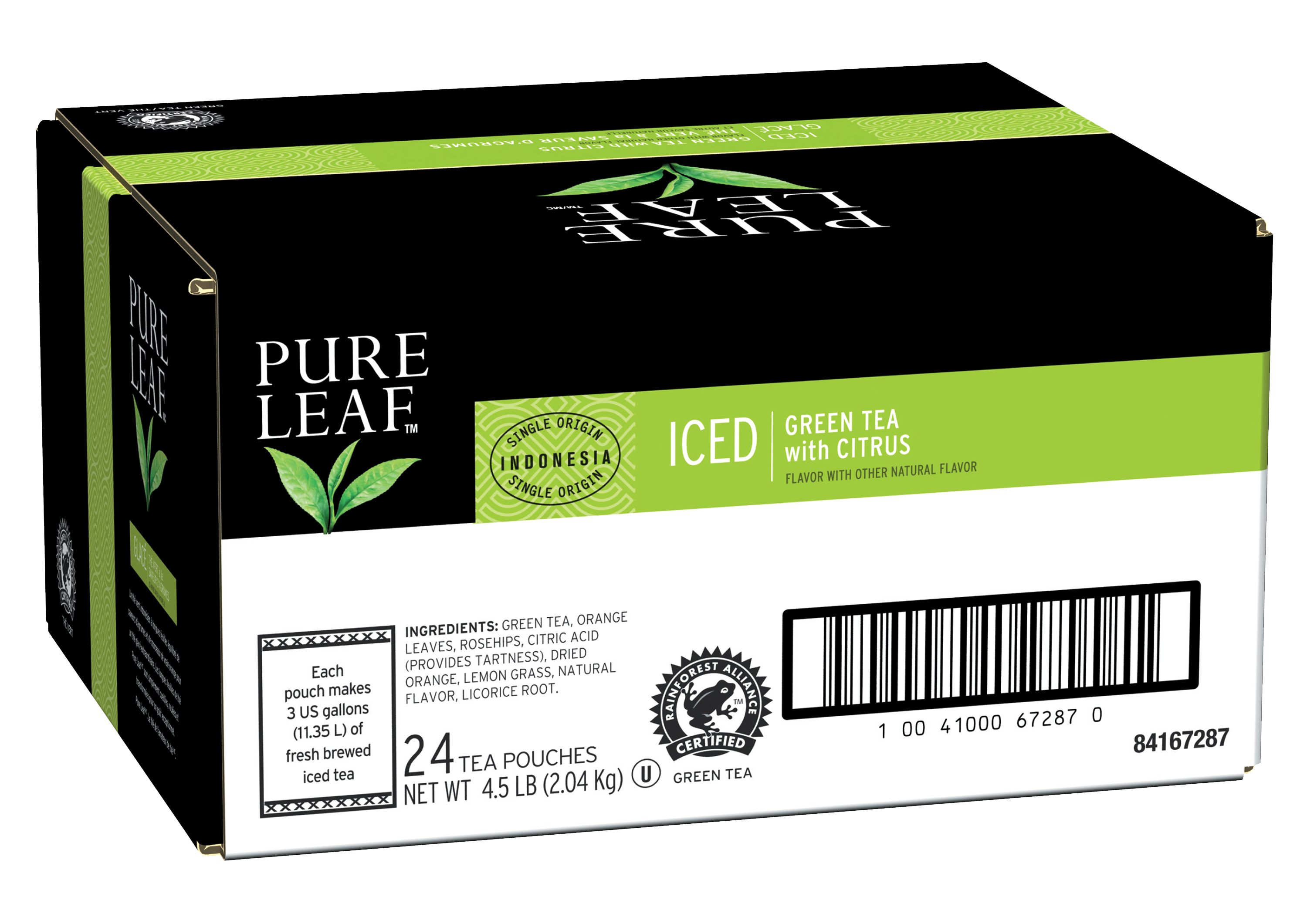 Pure Leafᵀᴹ Iced Loose Tea Pouch Green with Citrus 3 gallon, 24 count