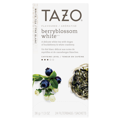 Tazo® Hot Tea Filterbag Berry Blossom White 24 count, Pack of 6