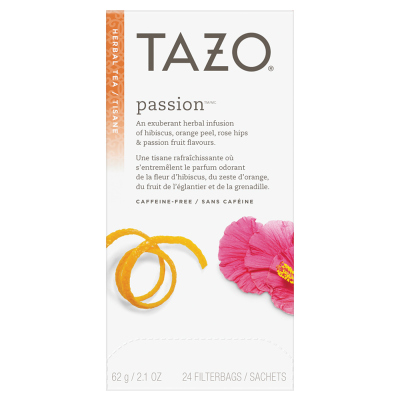 Tazo® Hot Tea Filterbag Passion 24 count, Pack of 6