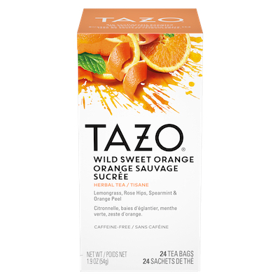 TAZO® Hot Tea Wild Sweet Orange 6 x 24 bags - We've got our own thing brewing: dare to be different