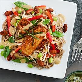 Miso Soba Noodle Salad with Tofu