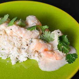Shrimp Curry with Coconut steamed Rice