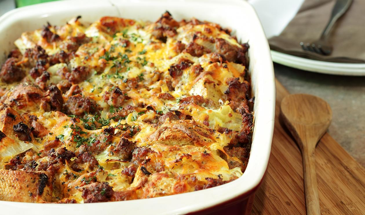 Christmas Morning Strata  – recipe