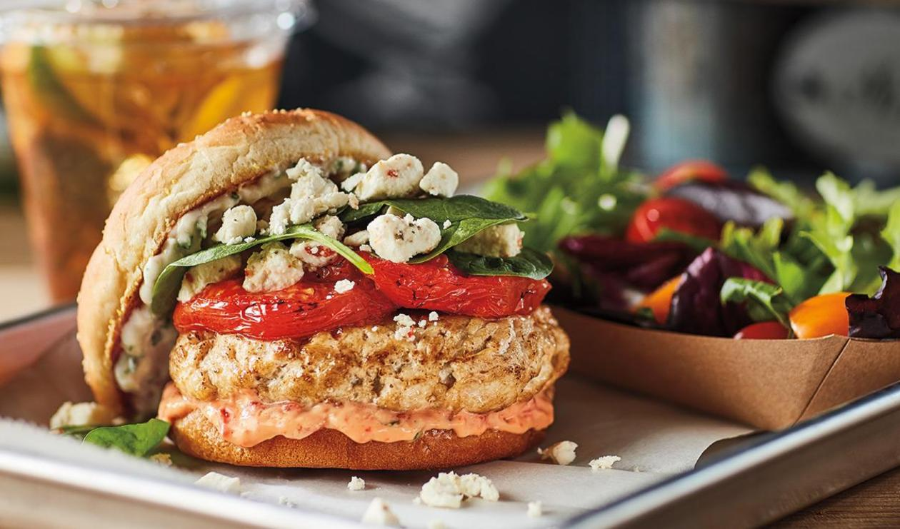 Herbed Feta Turkey Burger – recipe