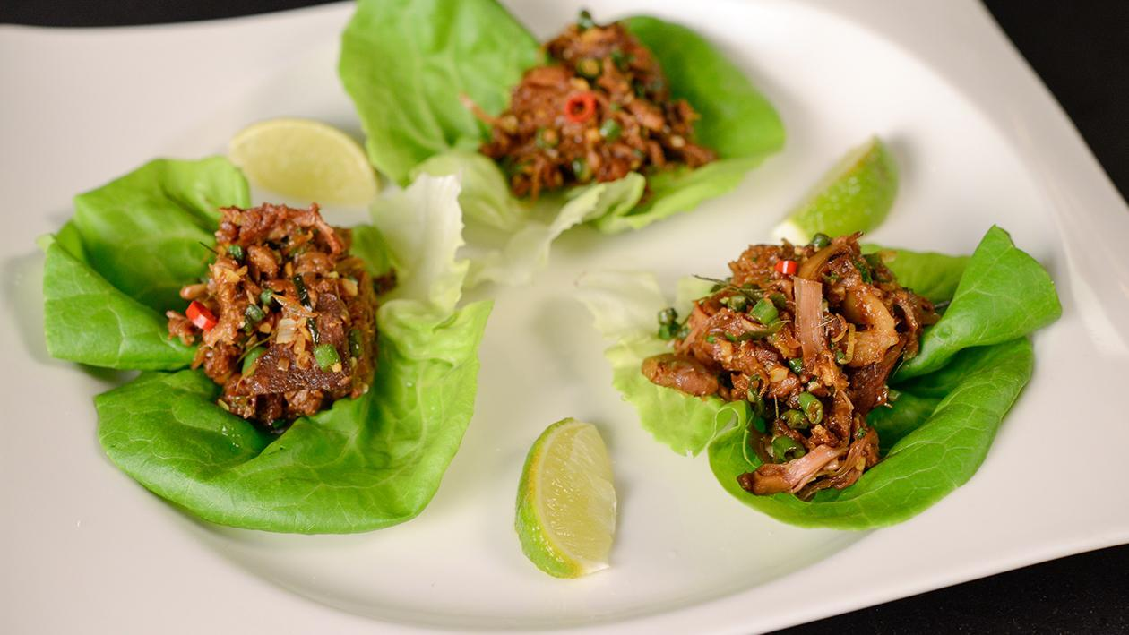 Jackfruit Larb in Lettuce Cups – recipe