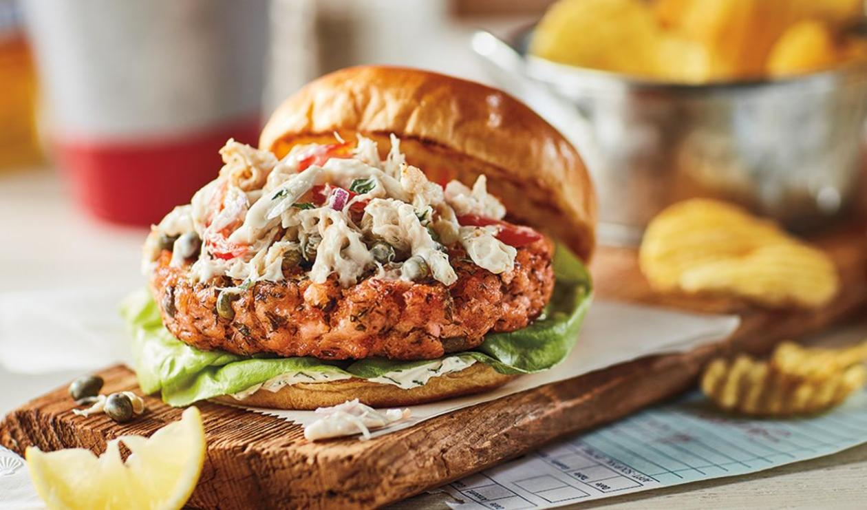 Maryland Crab Salad Burger  – recipe