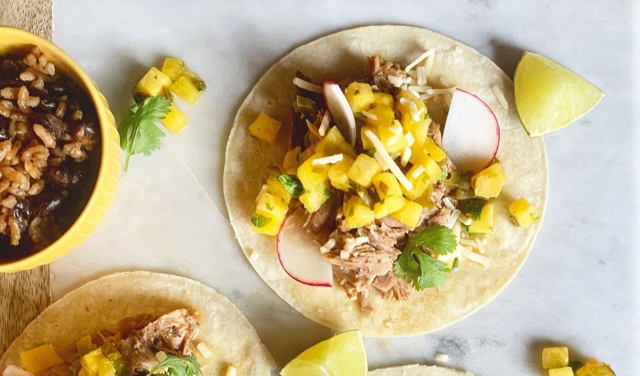 Mojo Pork Tacos with Pineapple and Pickled Jalapeno Salsa – recipe