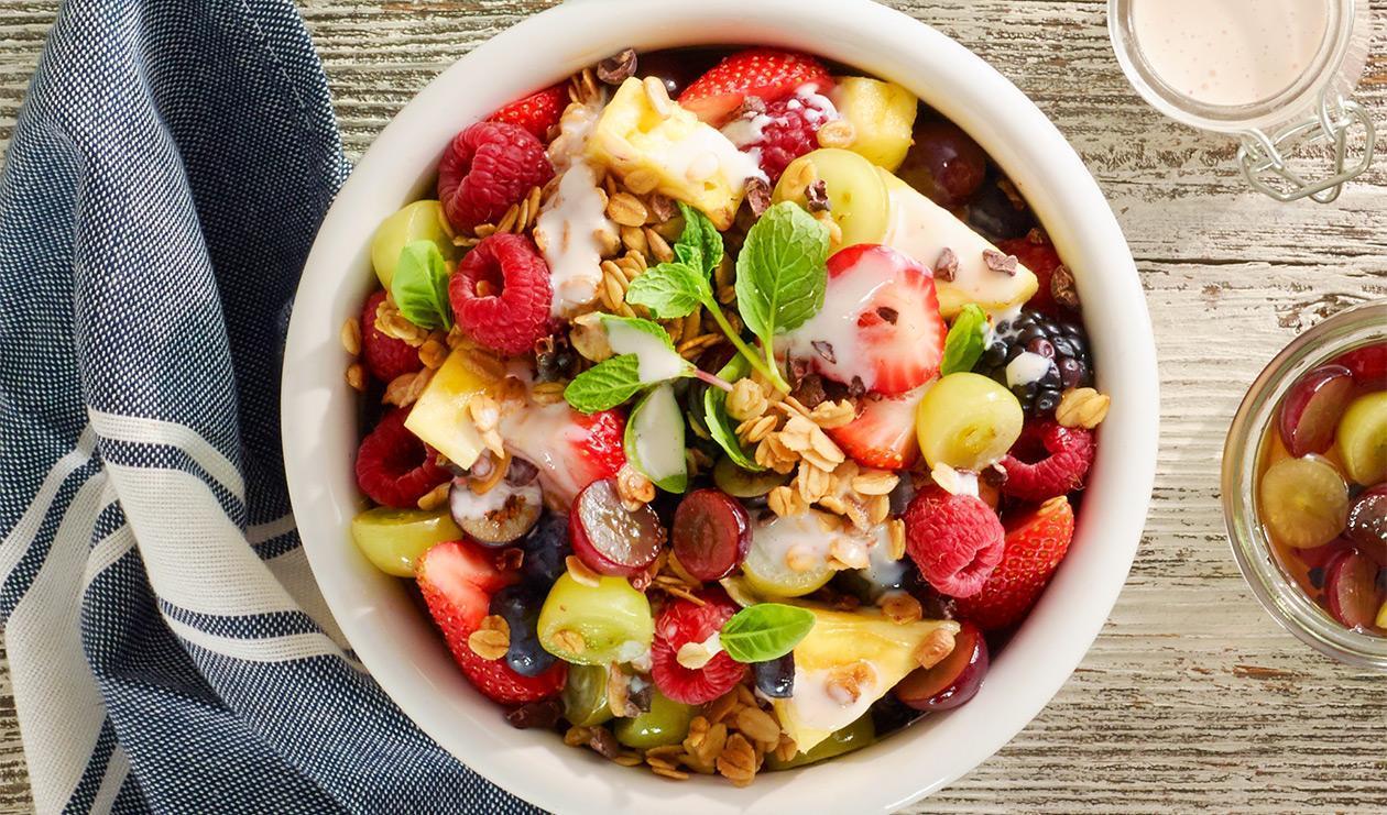 Pickled Grape Salad with Granola – recipe