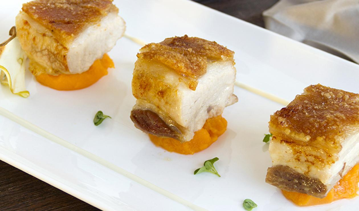 Pork Belly with Sweet Potato and Kumquat – recipe