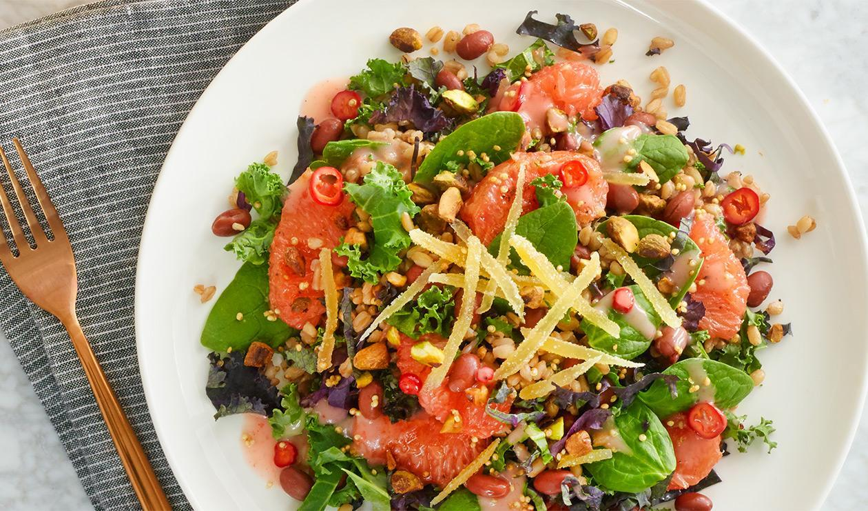 Savoury Farro and Grapefruit Salad – recipe