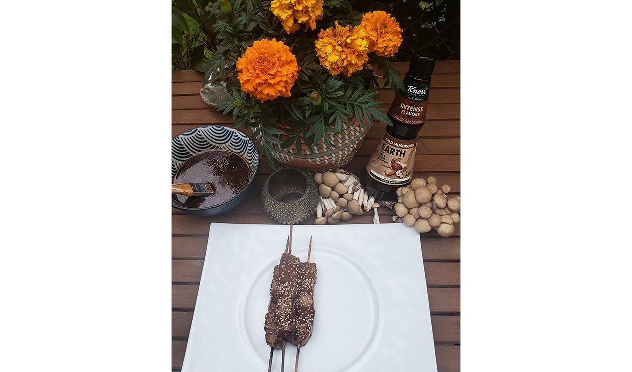 Smoked Daikon Skewers with Grilling Sauce – recipe