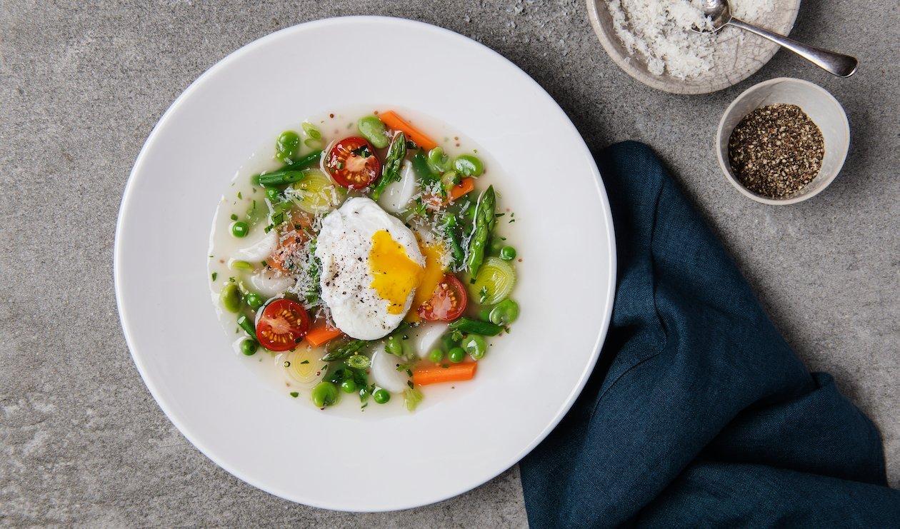 "Spring Vegetable and Egg ""Cassoulet""  – recipe"
