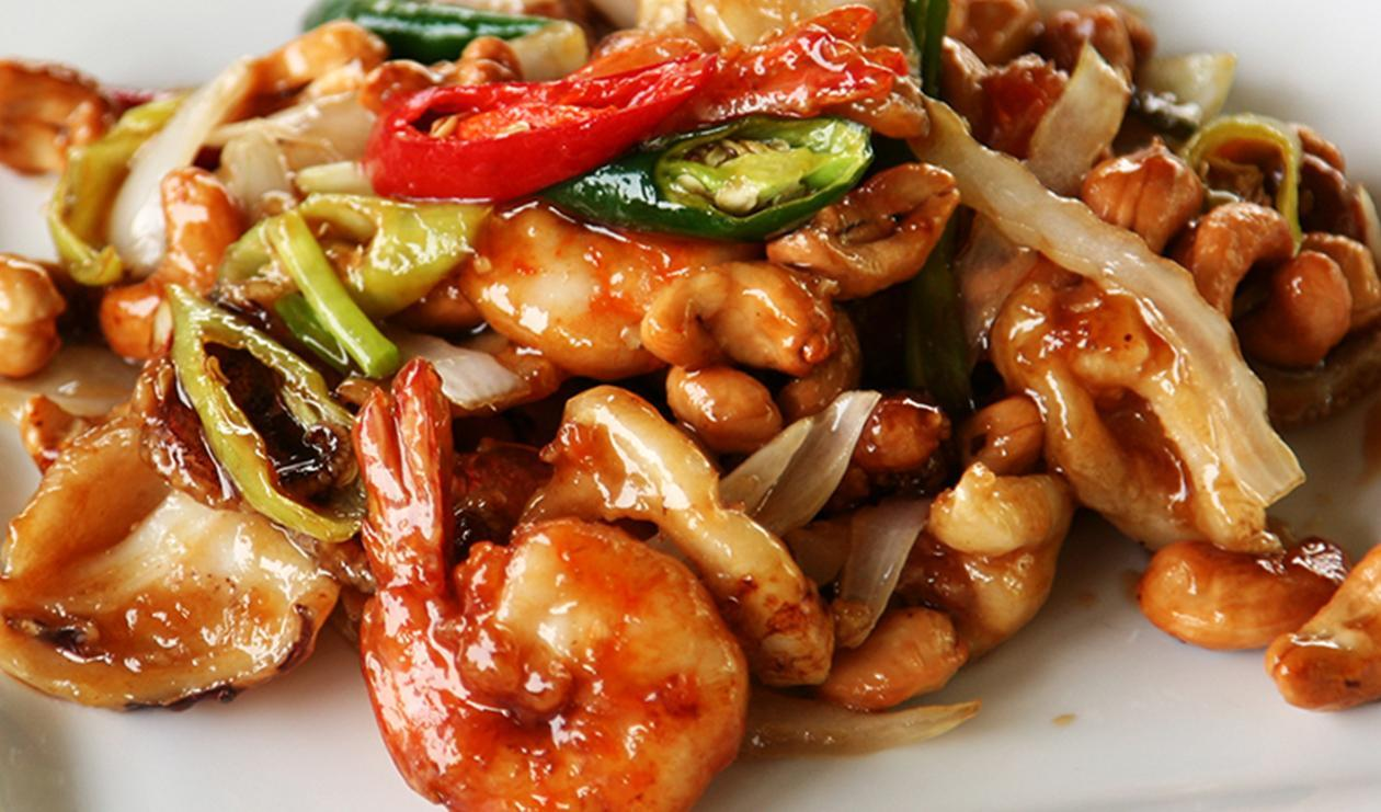 Traditional chinese prawns and cashew dish recipe unilever food authentic crunchy prawns and cashew dish easy to prep serve with white rice traditional chinese forumfinder Image collections