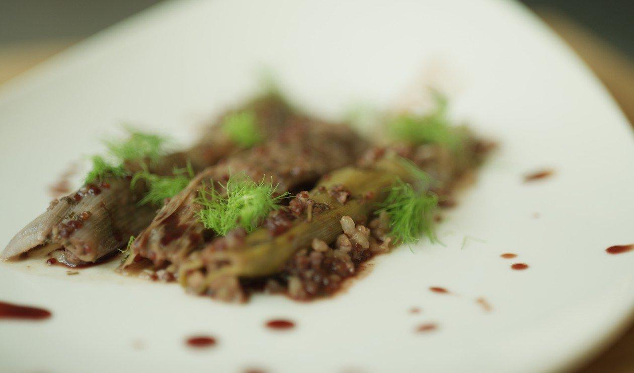 Walnut Rice and Quinoa Stuffed Leeks – recipe