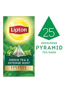 Lipton Exclusive Selection Green Tea & Intense Mint (6x25x2g)  -