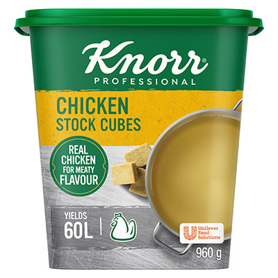 Knorr Chicken Stock Cubes (6x120x8g) - Knorr Chicken Stock Cubes gives you a stock with real chicken flavour