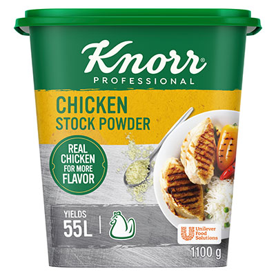 Knorr Chicken Stock Powder (6x1.1Kg) - Knorr Chicken Stock Powder gives you a stock with real chicken flavour