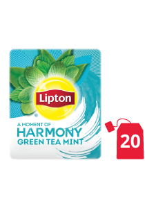 Lipton Green Tea Mint (16x20x1.5g) - Green tea from the world's no. 1 tea brand, Lipton, helps in digestion and increases focus