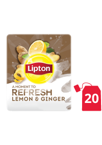 Lipton Herbal Infusion Lemon & Ginger (16x20 teabags) - Lipton Herbal Teas are designed to lift each employee's mood
