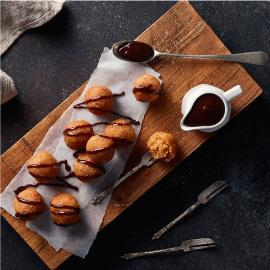 Basbousa with Chocolate Sauce