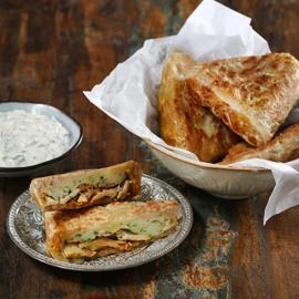 Chicken Shawarma Roti Style with Taboulah Mayo