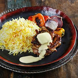 Grilled Chicken and Saffron Rice