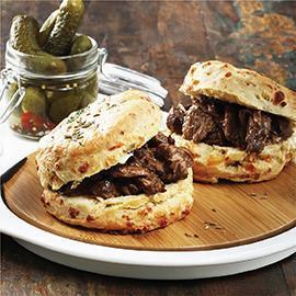 Scones & Pulled Beef Sliders