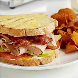 Turkey Beef Bacon & Apple Sandwich