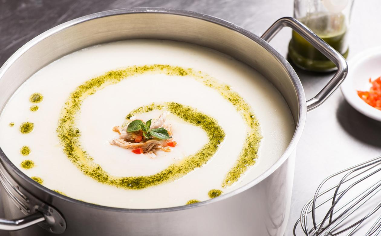 Basil Chicken Cream Soup