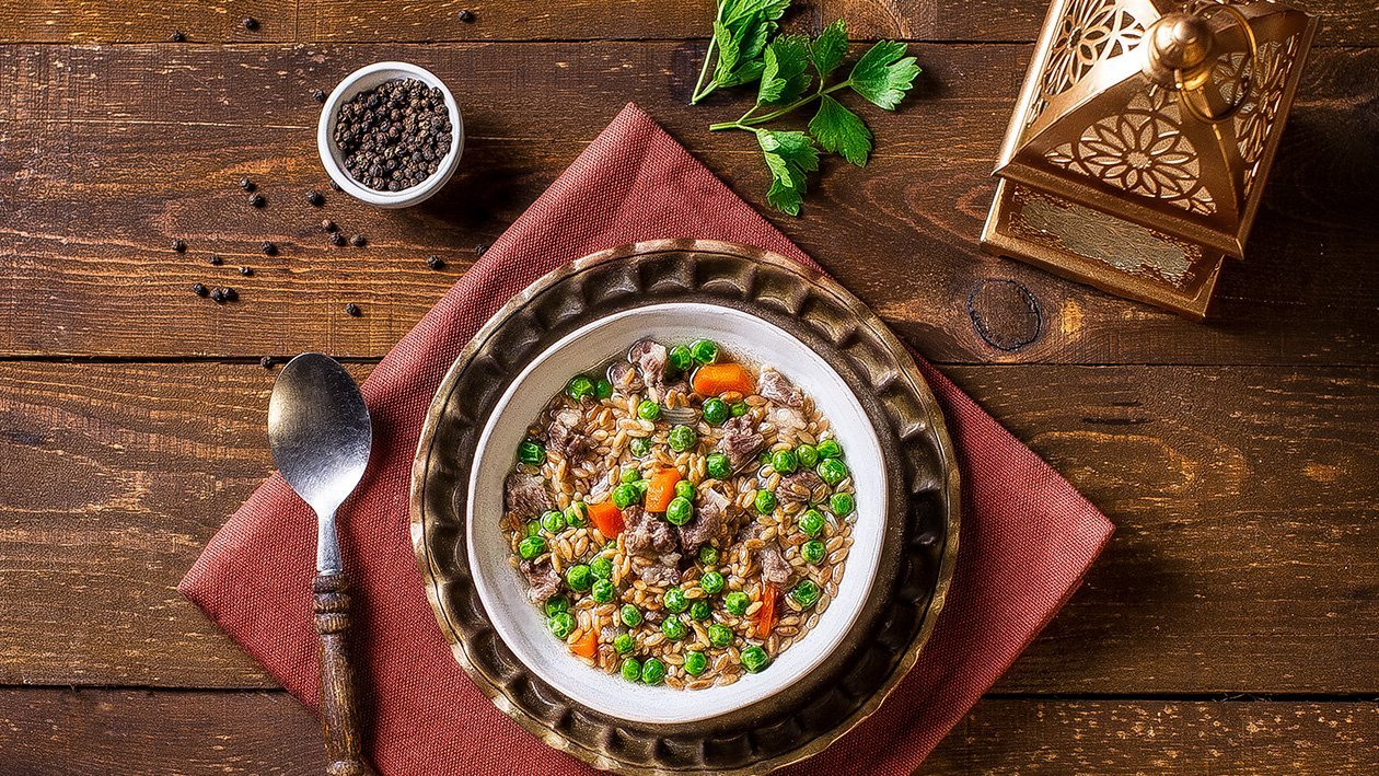 Beef Orzo and Vegetable Soup