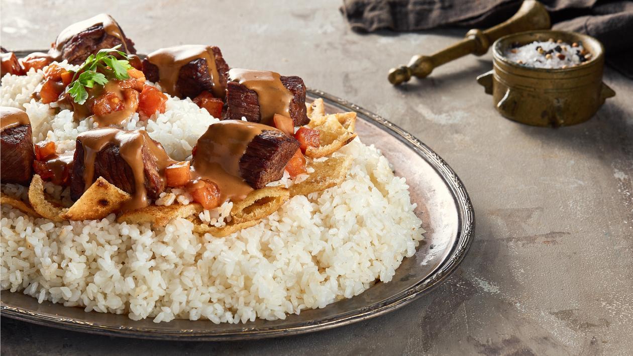 Beef Shank over Egyptian Fatta