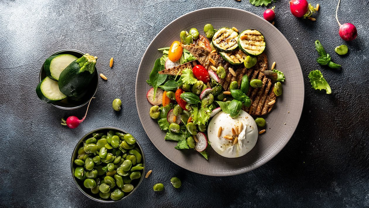 Burrata & Fava Bean Salad