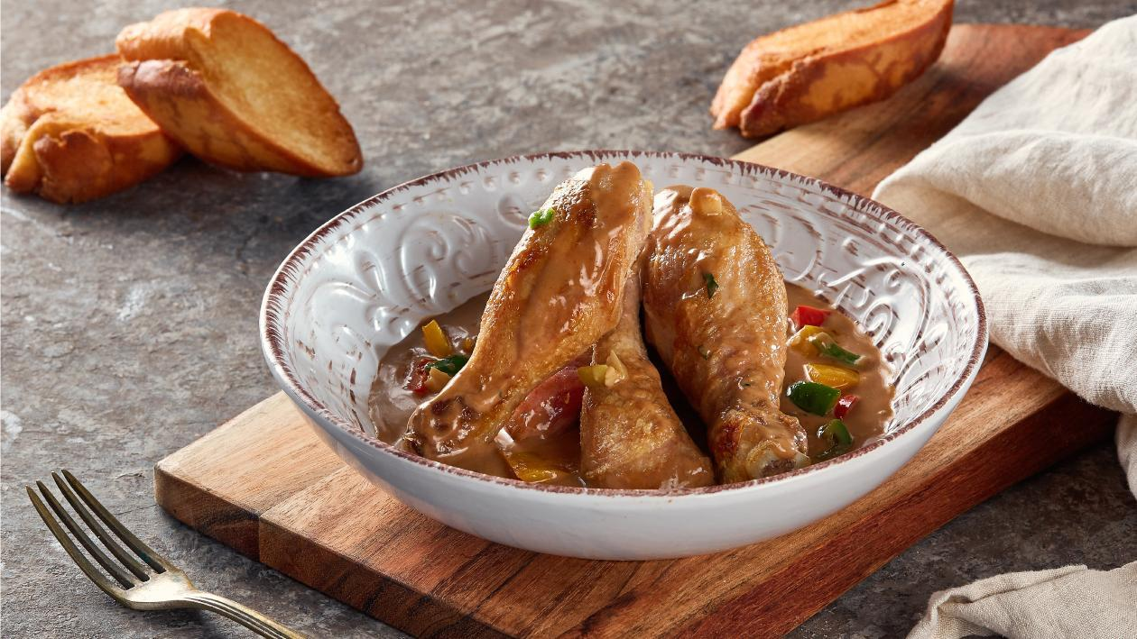 Chicken Drumsticks in Capsicum Demi-Glace