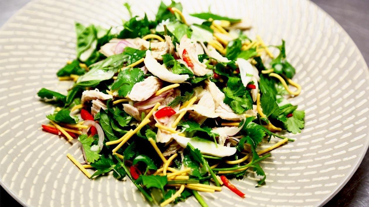 Coconut Chicken Salad with Crispy Noodles