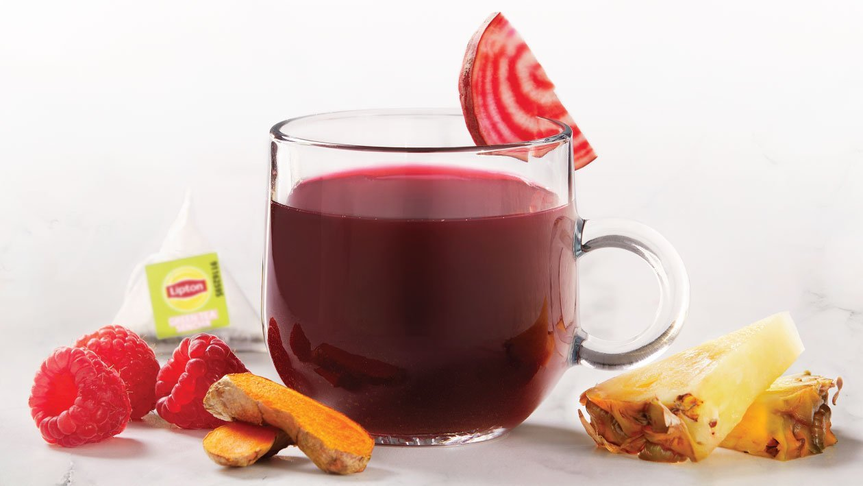 Green Tea Infused with Turmeric and Beetroot
