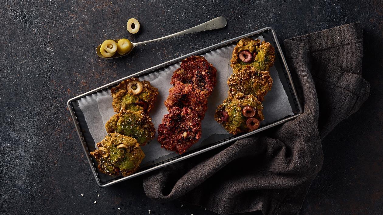Roasted Garlic & Olive Falafel