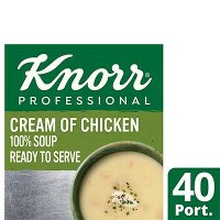 KnorrProfessional 100% Soup CreamofChicken 4x2.4L