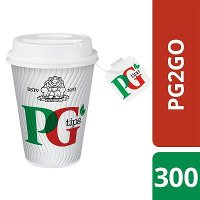 PG tips 2GO 300 Tagged Teabags, Cups & Lids