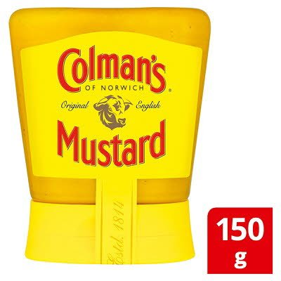 Colman's English Mustard Squeezy 150gx6 -