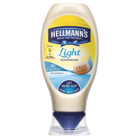 HELLMANN'S Light Mayonniase Squeezy 430ml