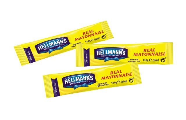 Hellmann's Real Mayonnaise 200 x 15ml Portions