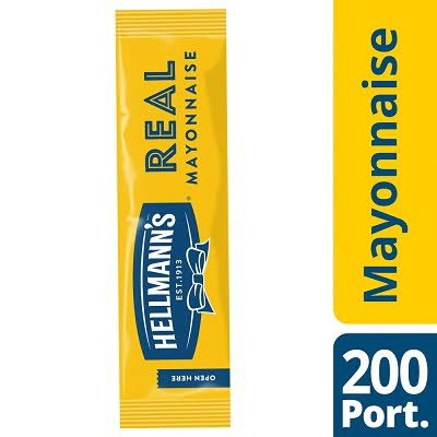 Hellmann's Real Mayonnaise 200 x 15ml Portions -
