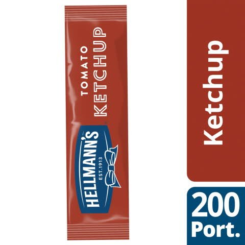 Hellmann's Tomato Ketchup 200 x 15ml Portions -